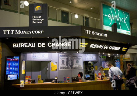 Currency exchange bureau at gatwick airport stock photo royalty free image 68440681 alamy - Gatwick airport bureau de change ...
