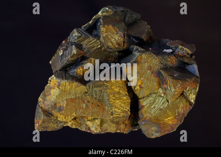 Chalcopyrite - Peru - Anticona Mine - Morococha District - Yauli Province - Junin Department, main ore mineral of - Stock Photo