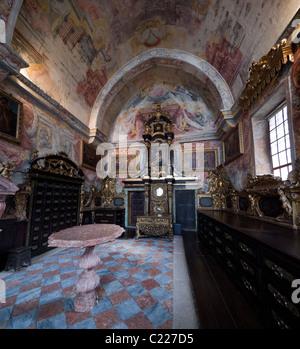 Treasure room in Sé do Porto (Oporto Cathedral). Oporto, Portugal. - Stock Photo