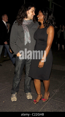 Will Swenson and Audra McDonald Opening night of the Broadway play 'Wishful Drinking, created and performed by Carrie - Stock Photo