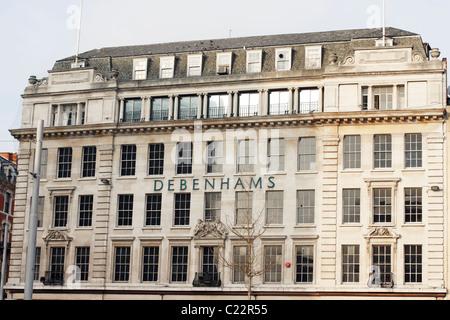 A Debenhams department store in Nottingham city centre, UK. - Stock Photo