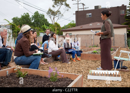 Venice Community Garden, Los Angeles, California - Stock Photo