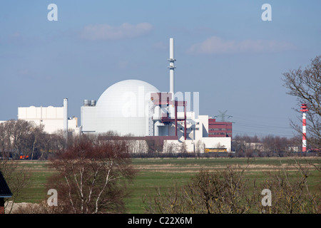 nuclear power station Brokdorf, Schleswig-Holstein, Germany - Stock Photo
