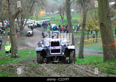 Morris Cowley, 1929, in the Cotswold Trial at the Prescott Hill Climb venue, Gloucestershire, England - Stock Photo