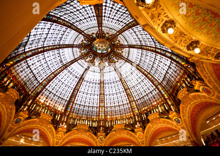 Cupola / dome of the Department Store Galeries Lafayette Paris France. Studio Lupica - Stock Photo