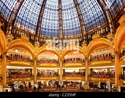 Department store Galeries Lafayette Paris France. Studio Lupica - Stock Photo