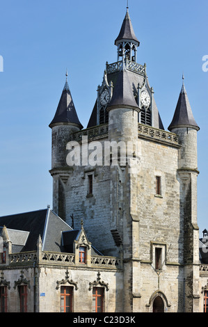 The belfry at Rue, Bay of the Somme, Picardy, France - Stock Photo