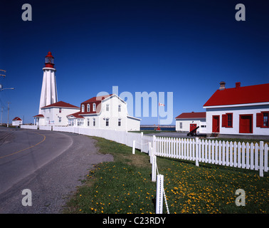 Pointe-Au-Pere Lighthouse, Canada - Stock Photo
