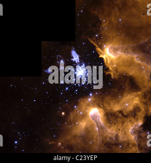 Life Cycle of Stars In this stunning picture of the giant galactic nebula NGC 3603 - Stock Photo