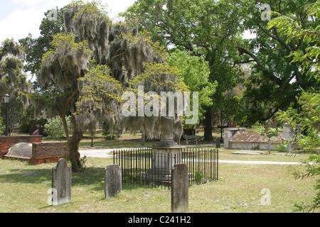 Civil War cemetery in Georgia. - Stock Photo