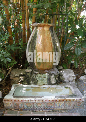 The legendary 'fountain' on the grounds of the Ernest Hemingway house in Key West Florida. - Stock Photo