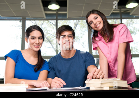 University students in a classroom - Stock Photo