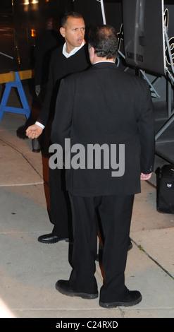 Alex Rodriguez of the New York Yankees baseball team arrives at the Four Seasons hotel Philadelphia, Pennsylvania - Stock Photo