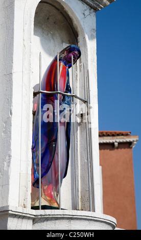 Venice - glass Madona from San Murano island - Stock Photo
