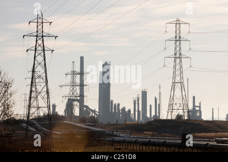 A petrochemical plant at Seal Sands on Teeside, North East, UK. - Stock Photo