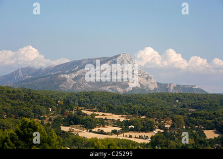 View over Montagne Sainte Victoire which used to be one of cezanne favourite subjects. Aix en Provence, Provence, - Stock Photo