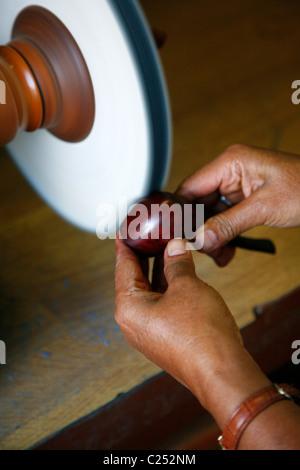 Pipes production, Cogolin, Var, Provence, France. - Stock Photo