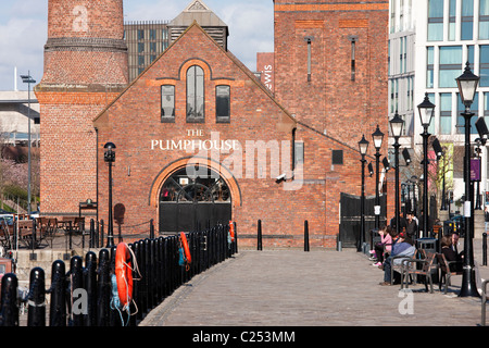 The Pumphouse on the quay at  Albert Dock, Liverpool - Stock Photo
