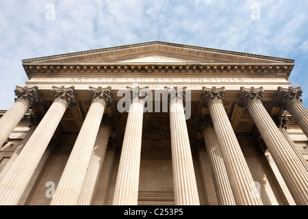 Columns outside St Georges Hall, Liverpool - Stock Photo