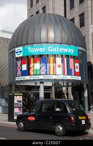 Entrance to the Tower Gateway DLR Station, London - Stock Photo