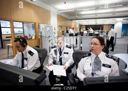 Metropolitan Police Central Communications Command Centre, Lambeth, London, United Kingdom. Photo:Jeff Gilbert - Stock Photo