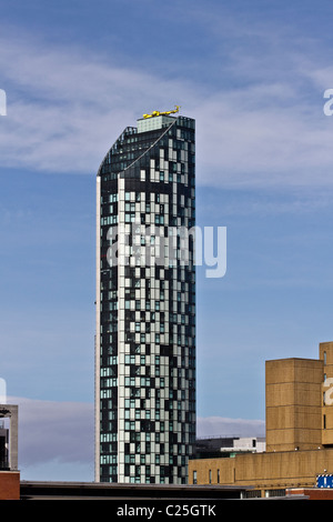 West Tower, Brook Street, Liverpool _Pierhead, Merseyside, UK - Stock Photo