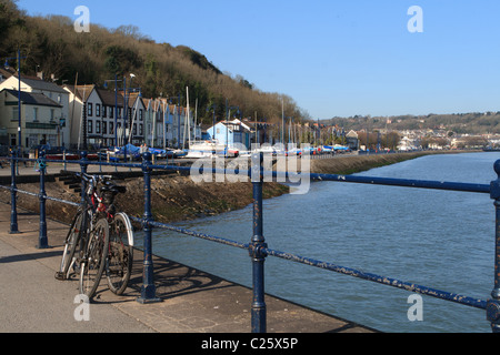 View from Mumbles Pier, Mumbles, Swansea - Stock Photo