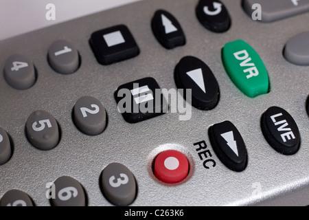 Digital Video Recorder Remote Control Close-Up - Stock Photo