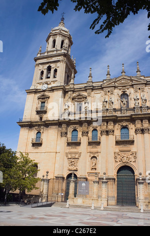 The Assumption of the Virgin Cathedral , Santa María Square, Jaén,Andalucia, Spain. - Stock Photo