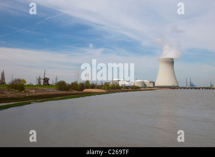 Nuclear power plant in Doel, Belgium, close to Antwerp - Stock Photo