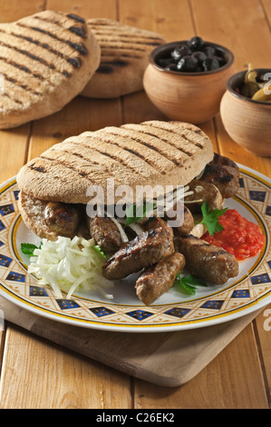 Cevapcici. Popular food Balkans - Stock Photo
