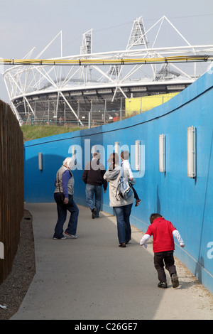 VISITORS TO LONDON 2012 OLYMPIC PARK IN MARCH 2011