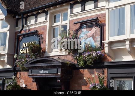 The Jolly Sailor pub Poole UK - Stock Photo
