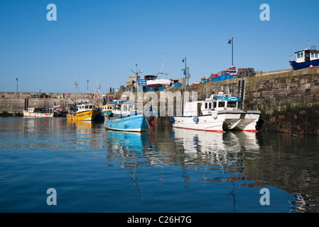 Fishing Boats in Newquay Harbour, Cornwall - Stock Photo