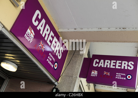 Careers Office for the British Armed forces. - Stock Photo