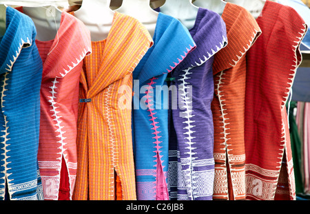 Dresses For Sale In A Street Market Oaxaca City Mexico - Stock Photo