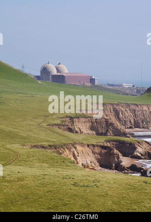 Diablo Canyon Nuclear power station (Diable Canyon Nuclear power plant) - Central California USA - Stock Photo