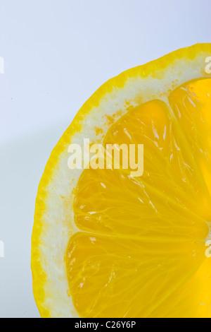 Half Lemon - Extreme close up - Stock Photo