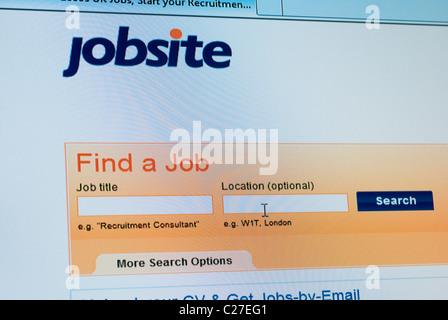 jobsite recruitment website screenshot - Stock Photo