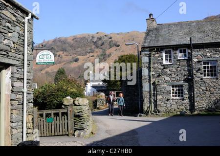 The village of Rosthwaite, Borrowdale, Lake District - Stock Photo