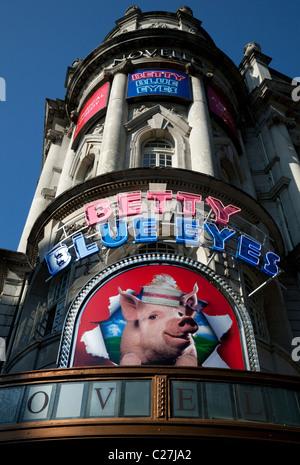 Betty Blue Eyes musical at Novello Theatre, London - Stock Photo