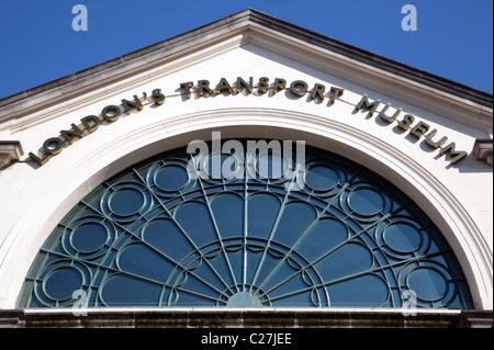 London Transport Museum, Covent Garden (detail) - Stock Photo