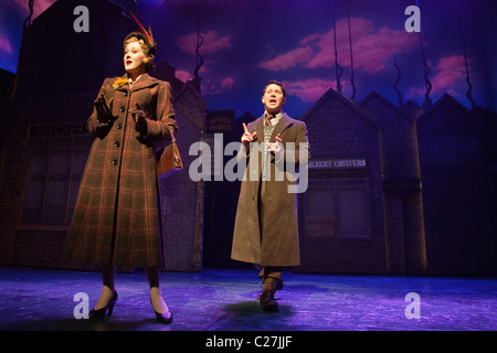 Sarah Lancashire and Reece Shearsmith in the musical comedy Betty Blue Eyes at the Novello Theatre - Stock Photo