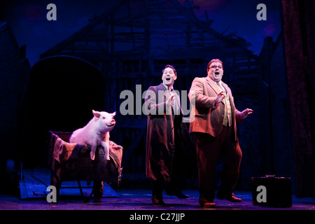 Reece Shearsmith and Jack Edwards in the musical comedy Betty Blue Eyes at the Novello Theatre - Stock Photo
