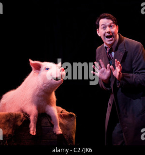 Reece Shearsmith in the musical comedy Betty Blue Eyes at the Novello Theatre - Stock Photo