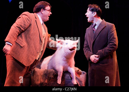 Jack Edwards and Reece Shearsmith in the musical comedy Betty Blue Eyes at the Novello Theatre - Stock Photo