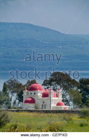 The exterior of the Greek Orthodox Church of the Twelve Apostles. - Stock Photo