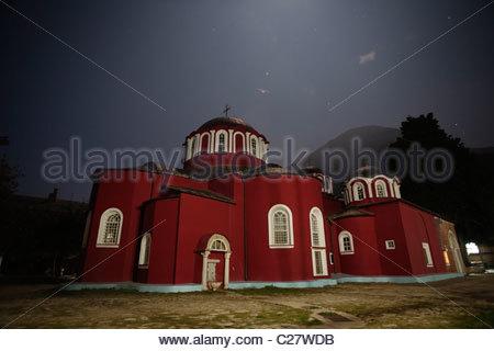 The main church at the Great Lavra Monastery - Stock Photo