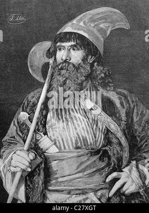 Persian dervish, historical illustration, ca. 1893 - Stock Photo