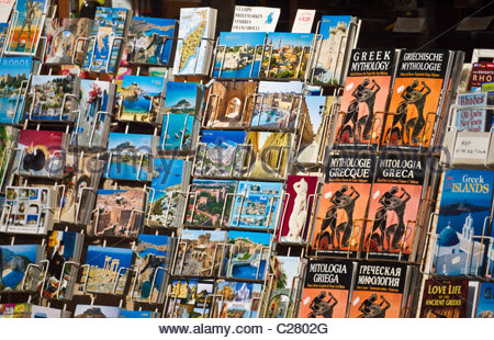 Greek postcards Greece - Stock Photo